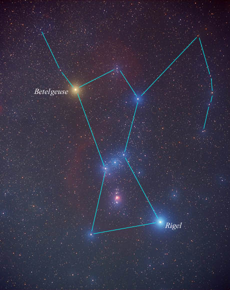 Betelgeuse is a red giant in the Orion constellation