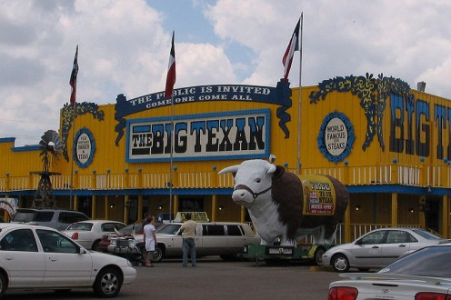 The Big Texan Steak Ranch in Amarillo.