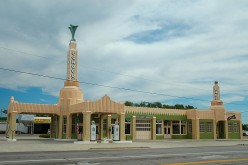 The old Tower Station and U-Drop Inn, now Shamrock's Chamber of Commerce.