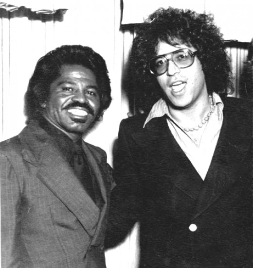 Bob Rook, music lawyer, with James Brown in 1977.