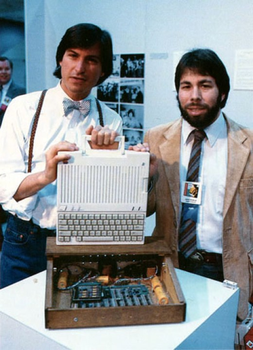 Founders of Apple in the early days. They got in at the beginning of the PC movement.