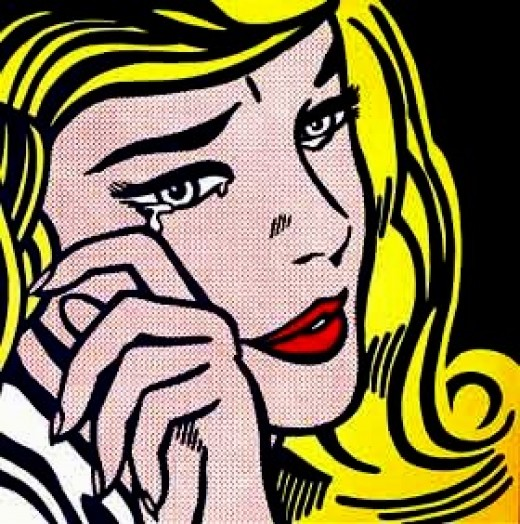 Women expressing sorrow was a common theme in Lichtenstein art