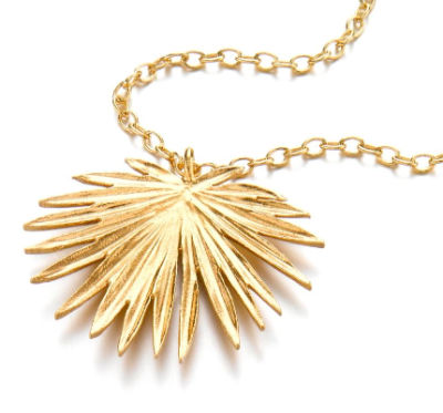 22ct Gold Palm Pendant