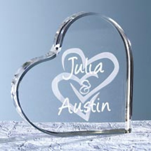 Personalized Interlocking Heart Cake Topper walmart.com $19.00