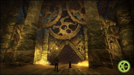 Strange, mysterious cave in Fable 3  Picture originally from xbox360achievements.org
