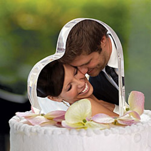 Photo Wedding Cake Topper overstock.com