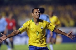 Luis Fabiano was on target twice in Brazil's 3-1 FIFA Worldcup win over Ivory Coast in 2010