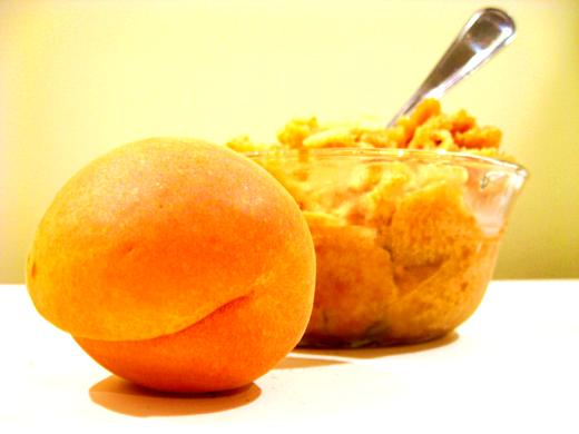 Homemade apricot sorbet / Photo by E. A. Wright