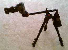 Extend the camera out away from the Tripod.