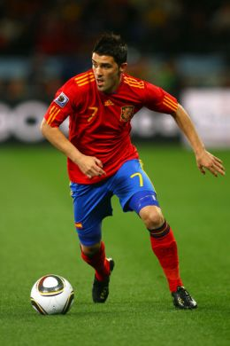 David Villa of Spain at the 2010 FIFA World Cup South Africa Round  (June 28, 2010 - Photo by Lars Baron/Getty Images Europe)