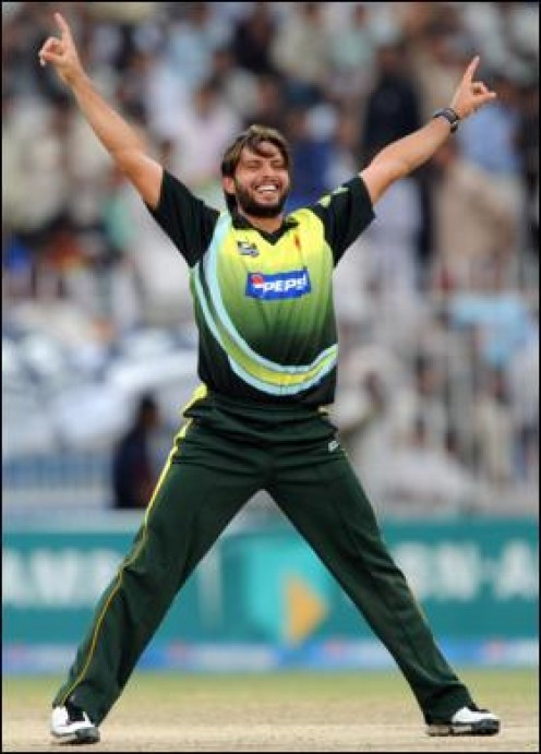 Afridi always excited!