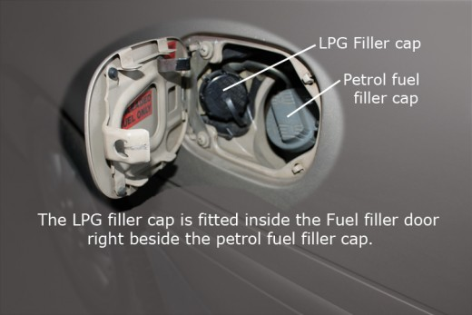 LPG and Petrol filler caps fitted together securely!