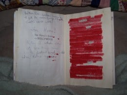 Found poetry in altered book