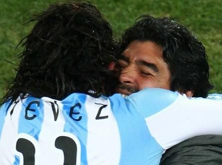 Diego Maradona head coach of Argentina