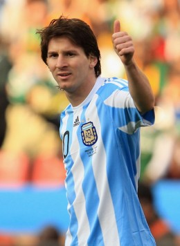 Lionel Messi of Argentina Ellis Park Stadium on June 12, 2010 in Johannesburg, South Africa. (June 11, 2010 - Photo by Chris McGrath/Getty Images Europe)