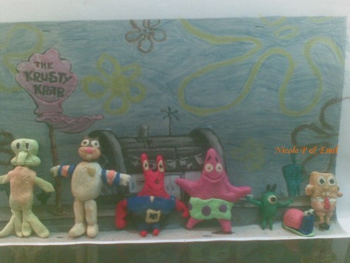 SpongeBob Squarepants Clay Models made by Emil