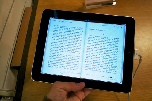 Read your favourite book on iPad  Courtesy of Wikimedia Commons  http://www.flickr.com/people/16226024@N00