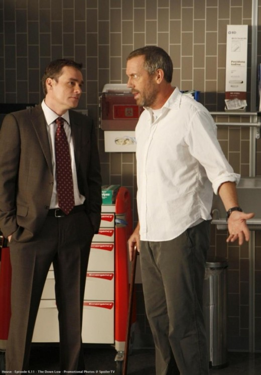 Dr. House and Wilson arguing.