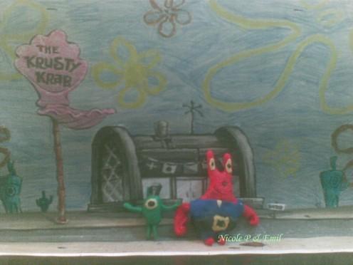 Plankton & Mr Krabs Clay Models