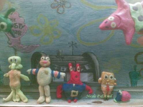 SpongeBob Squarepants and friends, Clay Models