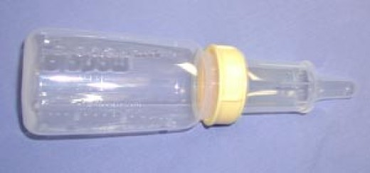 Special bottles for cleft palate babies.