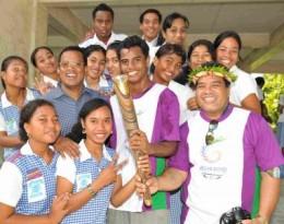Warm welcome at Kiribati