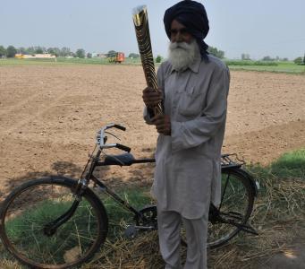 The baton crosses Punjab, India and common men become baton bearers