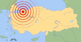 Map showing the epicenter of the earthquake at Izmit Bay, which also triggered a devastating tsunami.