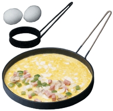 Egg Rings even assist in mini omelet cooking.