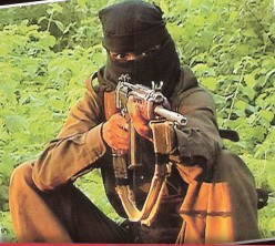 The Maoist with a AK47 perhaps killing his own men on his own land.