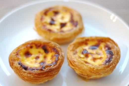 Pastis de nata in Macau egg tarts pastry