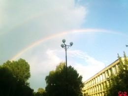 Rainbow above Kiev.
