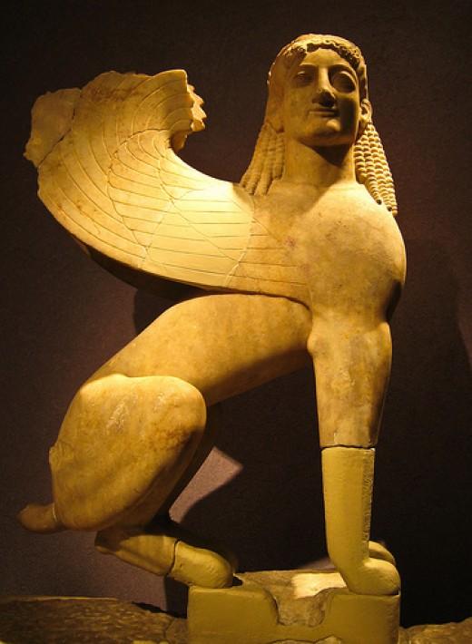 The Greek Sphinx.