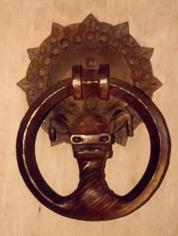 Hand forged door knocker