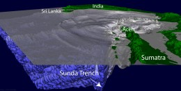 The cause of the 2004 tsunami was the collapse of the sea floor along the Sudra trench.
