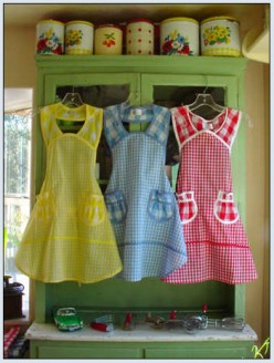 Aprons Return to the Kitchen