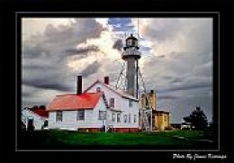 The Whitefish Point Lighthouse and The Great Lakes Shipwreck Museum. Photo by James Korringa