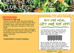 Sweet Tomatoes Coupon - Buy one get one half price