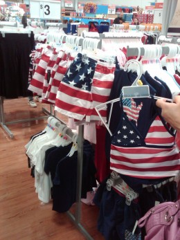 However, there was still a good supply of 4th of July young children's' clothing that a chihuahua could also wear .