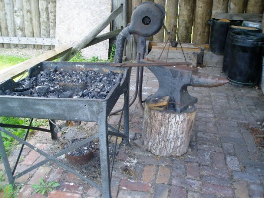 Blacksmith shop at Fort Steuben.  Photo by Gerber Ink.