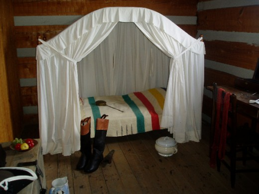 Officer's sleeping quarters at Fort Steuben.  Photo by Gerber Ink.