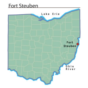 Location of Fort Steuben in Ohio.  (Image from OhioHistoryCentral.org)