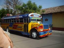 Colorful Bus in Granada