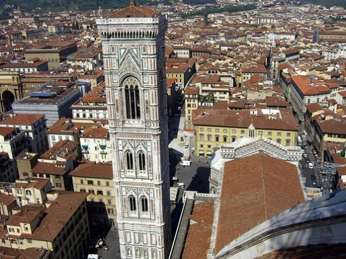 View of Florence from the Duomo. Photo by Adventurous Wench