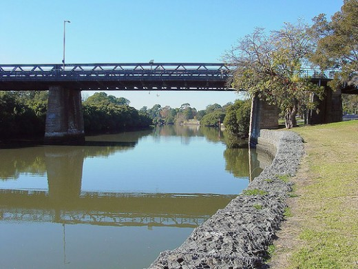 The Gas Work Bridge at Parramatta is just a ten minutes walk from my home