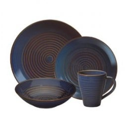 Pfaltzgraff Blue Pointe 16-Piece Dinnerware Set, Service for 4   Zoom See larger image (with zoom)  Share your own customer images Pfaltzgraff Blue Pointe 16-Piece Dinnerware Set