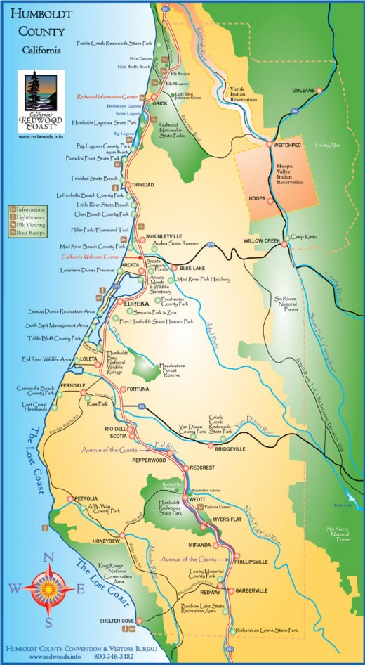 Map of Humboldt County