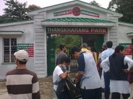 Thangkarang park: Indo-Bangladesh border-a  Cherrapunji location