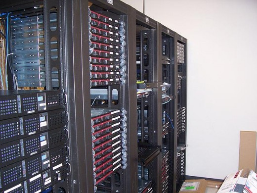 An Average N.O.C. Data Center Server Rack