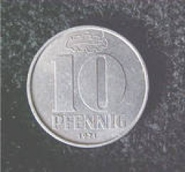 This is a German 10 pfennig coin dated 1971 A